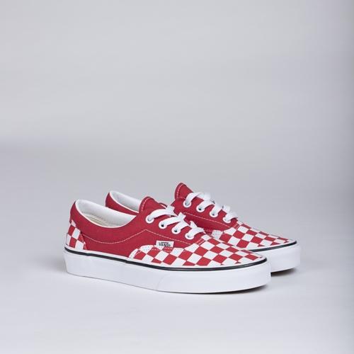 VAns Era Checkerboard Red