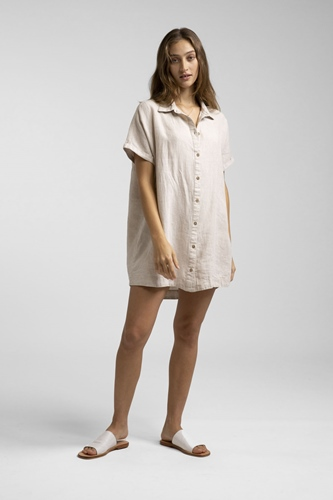 Rhythm Kleid Classic Linen Shirt