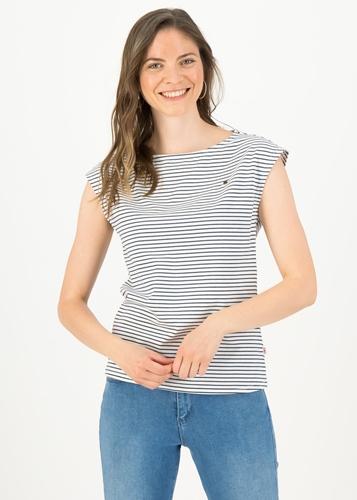 BG T-Shirt Logo Stripe Top